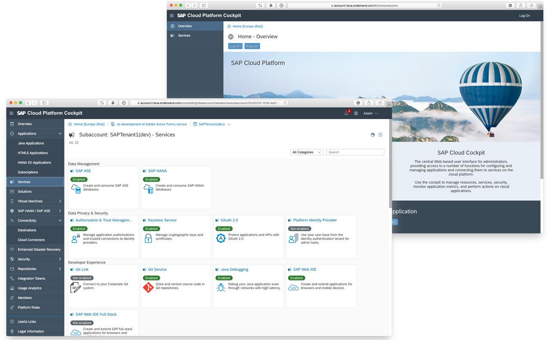 SAP Cloud Platform Cockpit User Experience